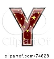 Royalty Free RF Clipart Illustration Of A Starry Symbol Capital Letter Y by chrisroll