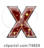 Royalty Free RF Clipart Illustration Of A Starry Symbol Capital Letter X by chrisroll