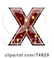 Starry Symbol Capital Letter X