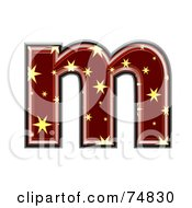 Royalty Free RF Clipart Illustration Of A Starry Symbol Lowercase Letter M by chrisroll