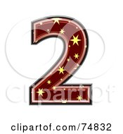Royalty Free RF Clipart Illustration Of A Starry Symbol Number 2