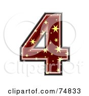 Royalty Free RF Clipart Illustration Of A Starry Symbol Number 4