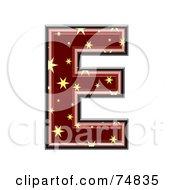 Starry Symbol Capital Letter E