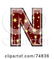 Royalty Free RF Clipart Illustration Of A Starry Symbol Capital Letter N