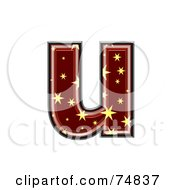 Starry Symbol Lowercase Letter U