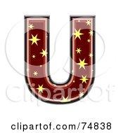 Starry Symbol Capital Letter U