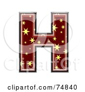 Royalty Free RF Clipart Illustration Of A Starry Symbol Capital Letter H