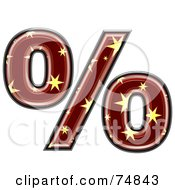 Royalty Free RF Clipart Illustration Of A Starry Symbol Percent