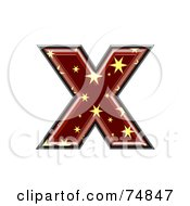 Royalty Free RF Clipart Illustration Of A Starry Symbol Lowercase Letter X