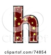 Royalty Free RF Clipart Illustration Of A Starry Symbol Lowercase Letter H