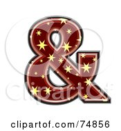 Royalty Free RF Clipart Illustration Of A Starry Symbol Ampersand