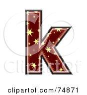 Starry Symbol Lowercase Letter K