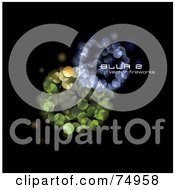 Royalty Free RF Clipart Illustration Of A Background Of Blue And Green Sparkling Lights On Black With Sample Text