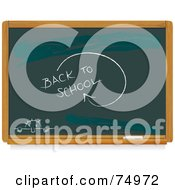 Royalty Free RF Clipart Illustration Of A Chalkboard With Back To School Writing And A Nervous Student