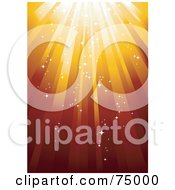 Royalty Free RF Clipart Illustration Of A Red And Orange Sparkly Background Of Shining Light
