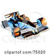 Blue And Orange F1 Race Car