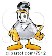 Clipart Picture Of An Erlenmeyer Conical Laboratory Flask Beaker Mascot Cartoon Character Pointing At The Viewer