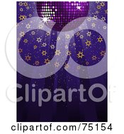 Royalty Free RF Clipart Illustration Of A Purple Disco Ball With Shining Starry Light