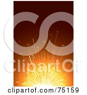 Royalty Free RF Clipart Illustration Of Bright Light From A Sparkler On Orange And Red by Eugene