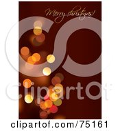 Royalty Free RF Clipart Illustration Of A Red Merry Christmas Greeting Background With Sparkling Lights by Eugene