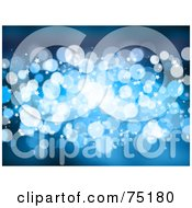 Royalty Free RF Clipart Illustration Of A Glittery Blue Sparkle Background