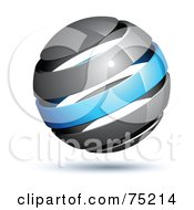 Pre Made Business Logo Of A Gray And Blue Globe