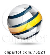 Pre Made Business Logo Of A White Blue And Yellow Globe