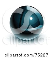 Pre Made Business Logo Of A Navy Blue Orb