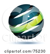 Pre Made Business Logo Of A Navy Blue And Green Globe