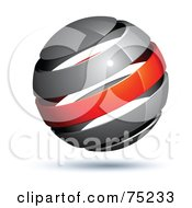 Pre Made Business Logo Of A Gray And Red Globe