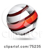 Royalty Free RF Clipart Illustration Of A Pre Made Business Logo Of A White Blue And Red Globe