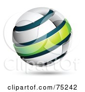 Pre Made Business Logo Of A White Blue And Green Globe