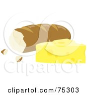 Cheese Wedge With French Bread