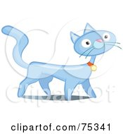 Prancing Blue Cat