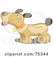Royalty-Free (RF) Clipart Illustration of a Happy Puppy Dog Panting by Frisko