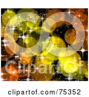 Royalty Free RF Clipart Illustration Of A Blurry Orange And Yellow Sparkle Background by MacX
