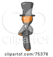 Royalty Free RF Clipart Illustration Of An Orange Man Abe Lincoln by Leo Blanchette
