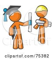 Orange Man Graduate And Orange Man Contractor