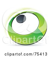 Pre Made Business Logo Of A Green Ring Or Dial On White