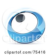 Pre Made Business Logo Of A Blue Ring Or Dial On White