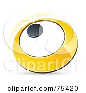 Pre Made Business Logo Of A Yellow Ring Or Dial On White