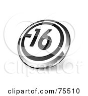 Round Black White And Chrome 3d 16 Web Site Button