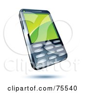 Royalty Free RF Clipart Illustration Of A Green Screen On A Modern Cell Phone by beboy