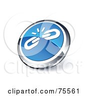 Royalty Free RF Clipart Illustration Of A Round Blue And Chrome 3d Weak Links Web Site Button by beboy