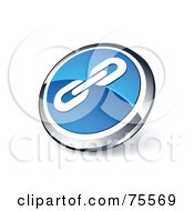 Royalty Free RF Clipart Illustration Of A Round Blue And Chrome 3d Strong Links Web Site Button by beboy