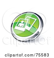 Royalty Free RF Clipart Illustration Of A Round Green And Chrome 3d Photos Web Site Button
