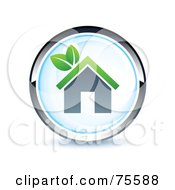 Royalty Free RF Clipart Illustration Of A Blue And Chrome Home Web Site Button