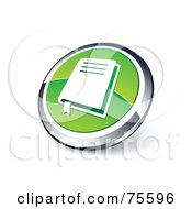 Round Green And Chrome 3d Bible Web Site Button
