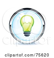 Royalty Free RF Clipart Illustration Of A Blue And Chrome Light Bulb Web Site Button by beboy