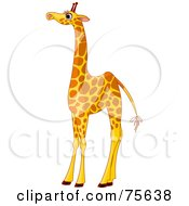 Royalty Free RF Clipart Illustration Of A Tall Female Giraffe With Long Eyelashes